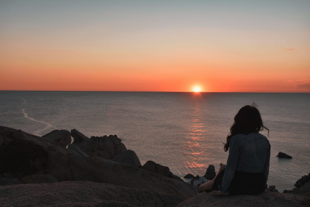 tramonto capo testa